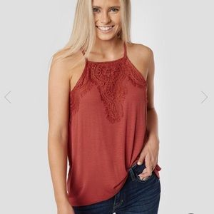 BRAND NEW W/ TAGS Ribbed high neck tank top